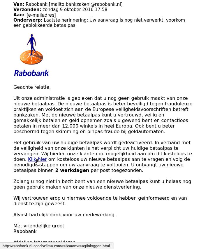 phishing rabobank (bron: Consumentenbond)